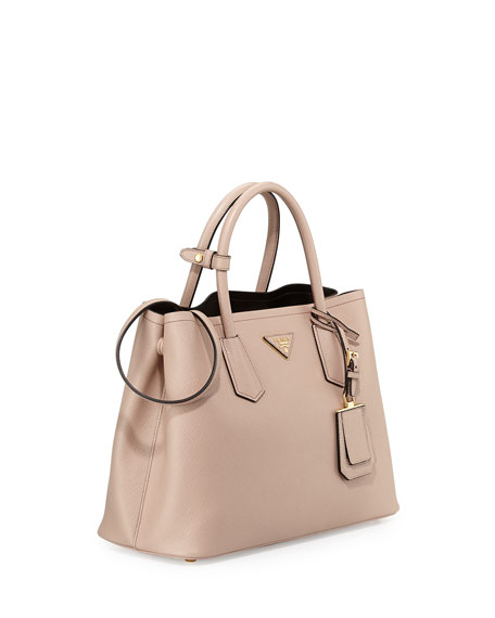 4dfba7535a09 Prada Saffiano Cuir Small Double Bag Cammeo | Stanford Center for ...