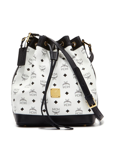 Heritage Visetos Drawstring Bag, White