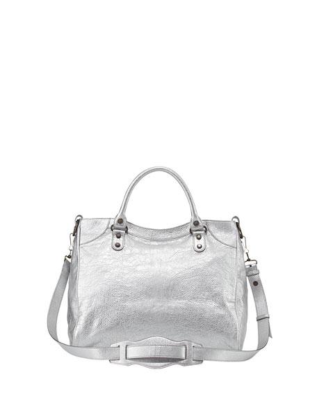 Classic Velo Crossbody Bag, Gris Aluminum