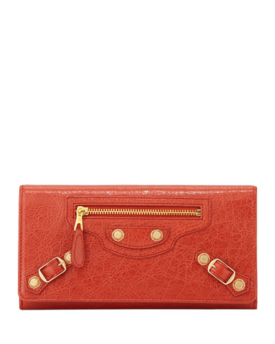 Giant Golden Money Wallet, Rouge Ambre
