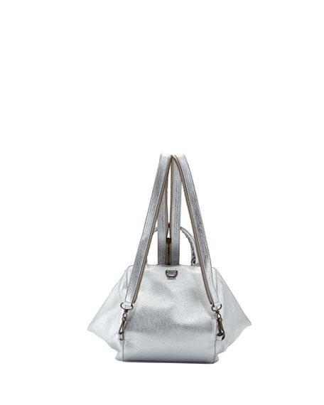 Classic Zip Traveler Extra-Small Backpack, Gris Aluminum