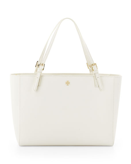 York Saffiano Leather Tote Bag, Ivory