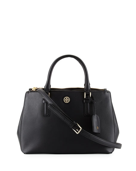 Tory Burch Robinson Mini Double Saffiano Satchel Bag,