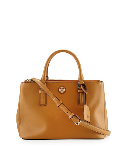 Robinson Mini Double Saffiano Satchel Bag, Tigers Eye