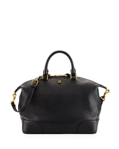 Frances Medium Slouchy Satchel Bag, Black