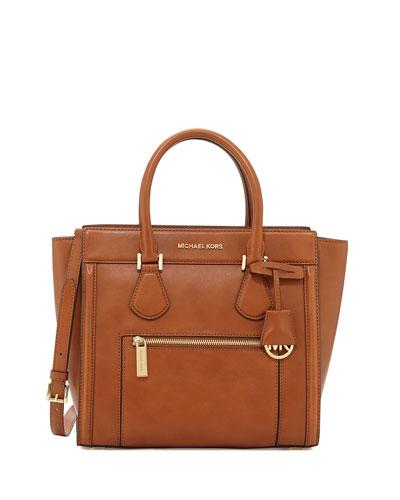 Colette Large Zip-Top Satchel, Luggage
