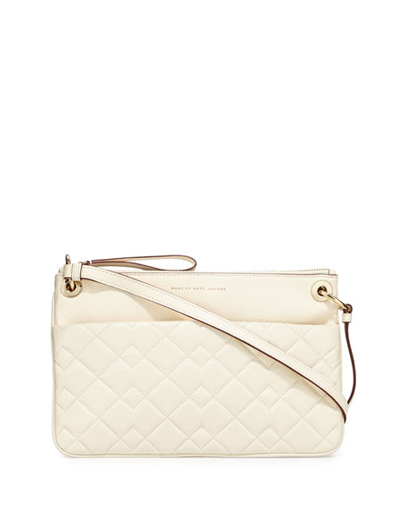 Tread Lightly Colorblocked Double Body Crossbody Bag, Leche