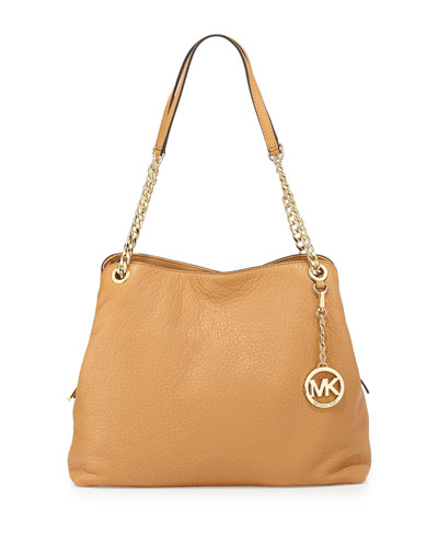 Jet Set Large Chain Shoulder Tote Bag, Peanut