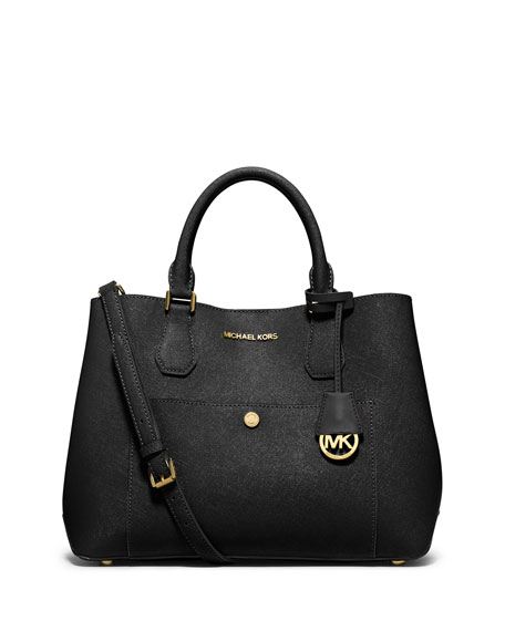 michael michael kors greenwich large saffiano tote bag. Black Bedroom Furniture Sets. Home Design Ideas