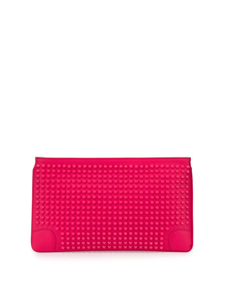 Christian LouboutinLoubiposh Oversized Spiked Clutch Bag, Fuchsia
