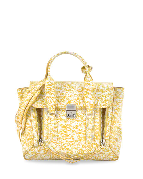 3.1 Phillip Lim Pashli Medium Satchel Bag, Ivory/Mimosa