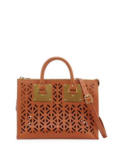 Holmes Cutout Leather Bag, Tan
