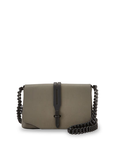 Enfield Mini Leather Shoulder Bag, Smoke