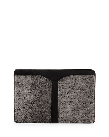 BOYY Samuel Calf Hair Clutch Bag, Gunmetal Hollywood