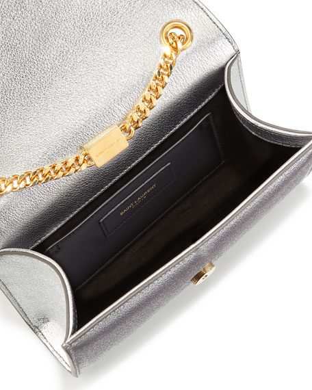 Monogram Small Crossbody Bag, Platine Silver