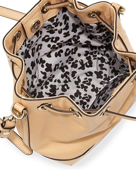 Fiona Mini Bucket Bag, Biscuit