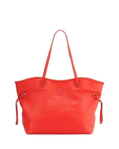 Marion East-West Slouchy Tote Bag, Massai Red