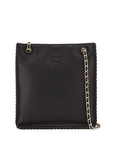 Marion North-South Shoulder Bag, Black