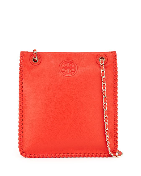 Tory Burch Marion North-South Shoulder Bag, Red