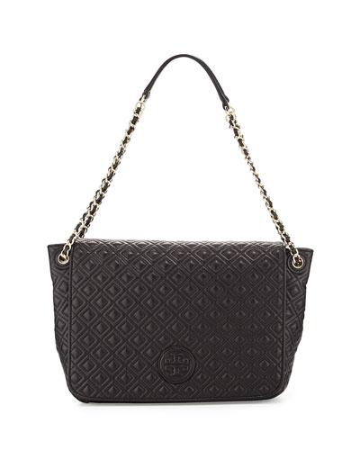 Marion Quilted Shoulder Bag, Black