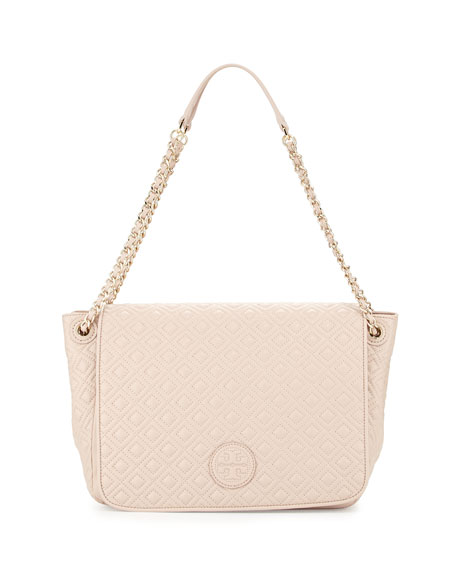 Tory Burch Marion Quilted Shoulder Bag Light Oak Neiman