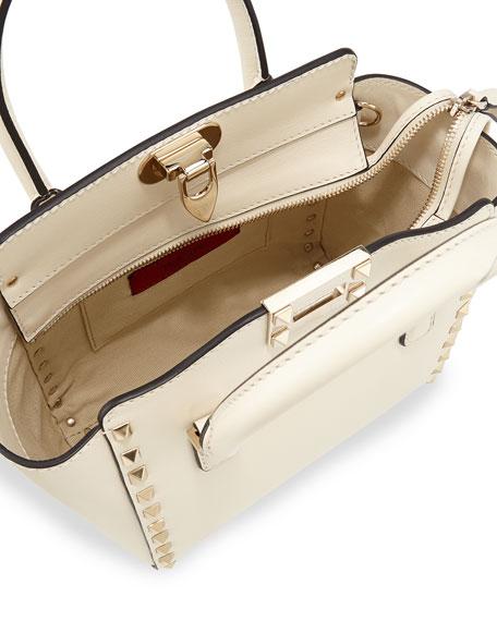Rockstud Micro Mini Tote Bag, Ivory
