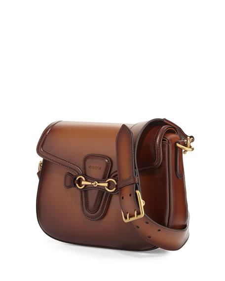 Lady Web Medium Crossbody Bag, Brown