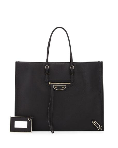 Balenciaga Papier A4 Tote Bag, Black