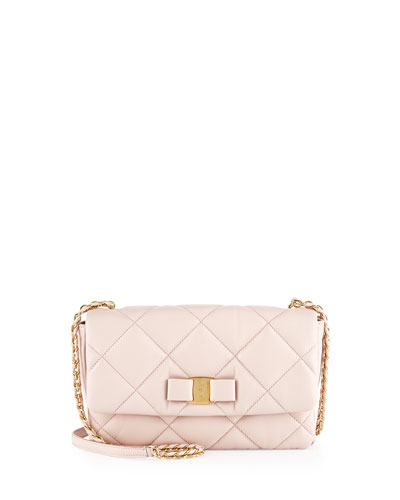 Gelly Small Leather Shoulder Bag, Macaroon