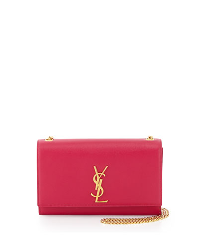 Monogram Medium Chain Shoulder Bag, Fuchsia