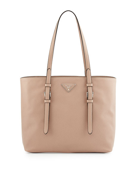 prada saffiano vernice top handle bag - Prada Saffiano Soft Tote Bag, Tan (Cammeo)