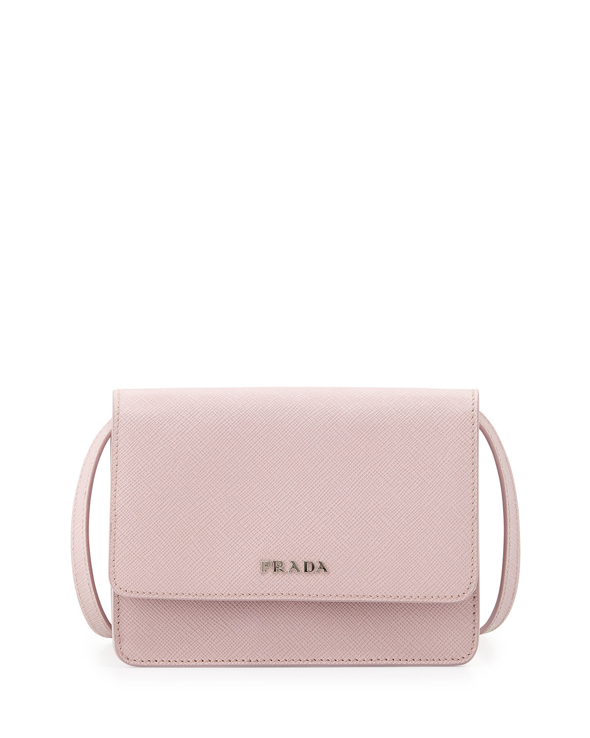Saffiano Lux Crossbody Bag Light Pink Mughetto
