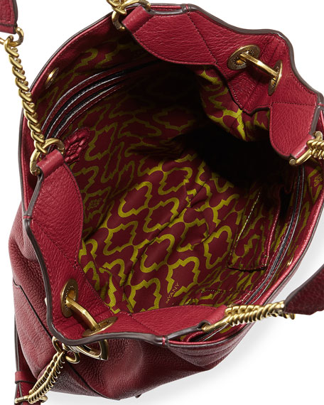 Image 2 of 3: Selina Chain Shoulder Bag, Burgundy