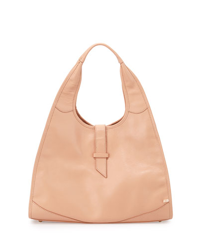 New Yorker Hobo Bag, Pink Bisque