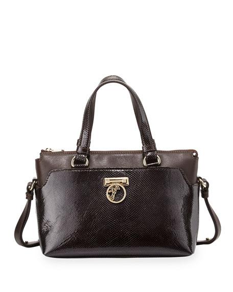 Versace Versace Two-Handle Crossbody Bag, Dark Brown