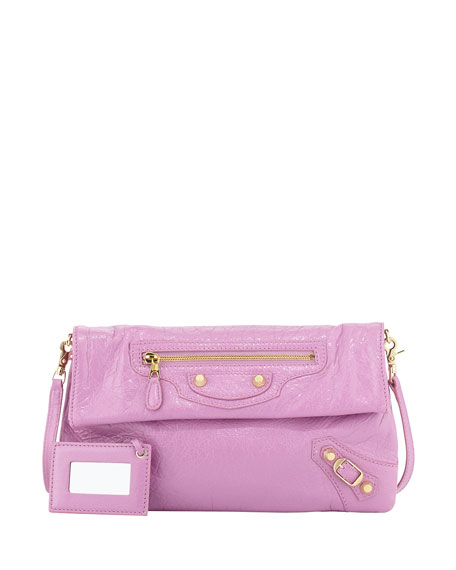 Balenciaga Giant 12 Golden Envelope Crossbody Bag, Rose