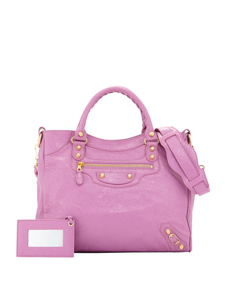 Balenciaga Giant 12 Velo Lambskin Bag, Rose Berlingot