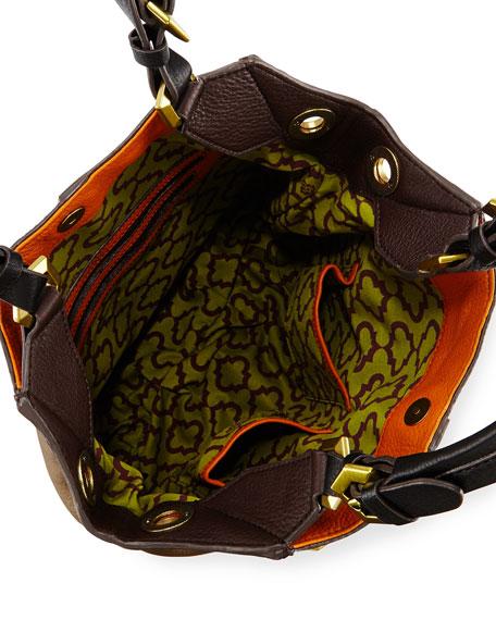 Victoria Colorblock Shoulder Bag, Pumpkin/Multi