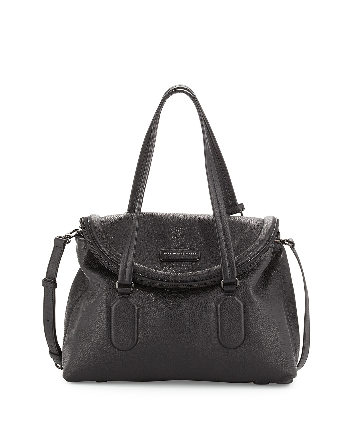 75cc5b6f9e MARC by Marc Jacobs Silicone Valley Satchel Bag, Black | Neiman Marcus