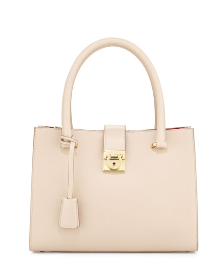 Salvatore Ferragamo Juliette Lock Story Tote Bag, New