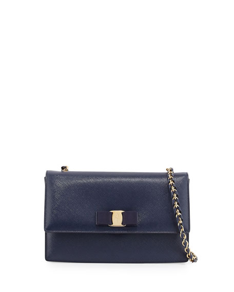 Vara cross-body bag - Blue Salvatore Ferragamo