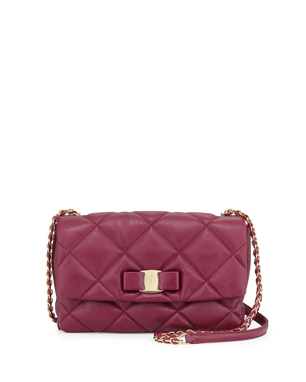 9810ee39777d Salvatore Ferragamo Gelly Vara Soft Quilted Shoulder Bag