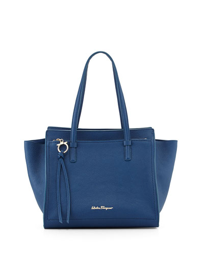 Amy Gancini Small Shopper Tote Bag, Sapphire