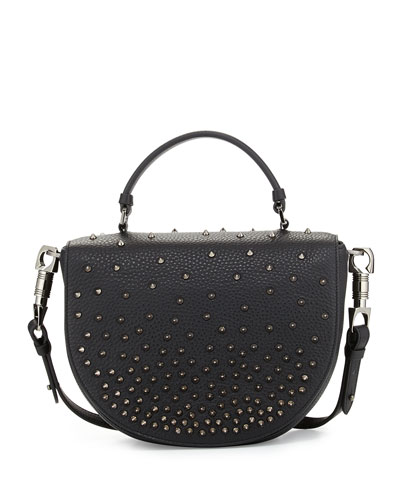 Panettone Degrade Spike Messenger Bag, Black
