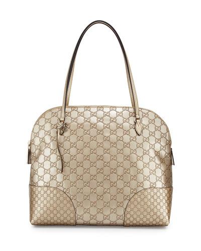 Bree Guccissima Medium Dome Bag, Beige