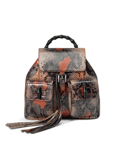 Bamboo Sac Python Backpack, Multicolor