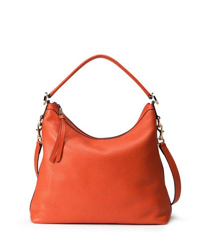 Miss GG Small Hobo Bag, Dark Orange