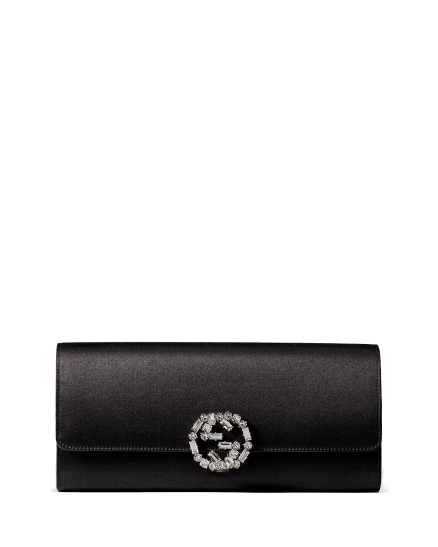 0e16f41fc54 Gucci Broadway Satin Evening Clutch Bag