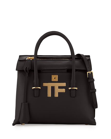 TOM FORD Icon Mini Tote Bag, Black
