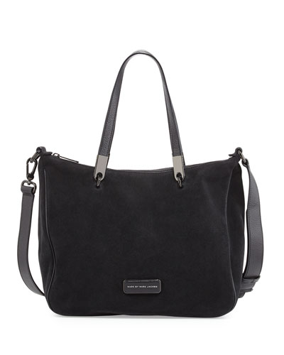 4f5e361a4ced 1 MARC by Marc Jacobs Ligero Sporty Suede Ninja Shoulder Bag